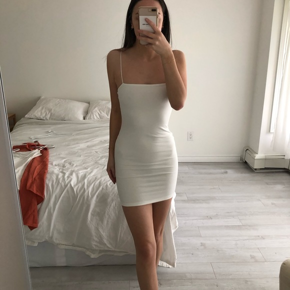 Showpo white mini dress